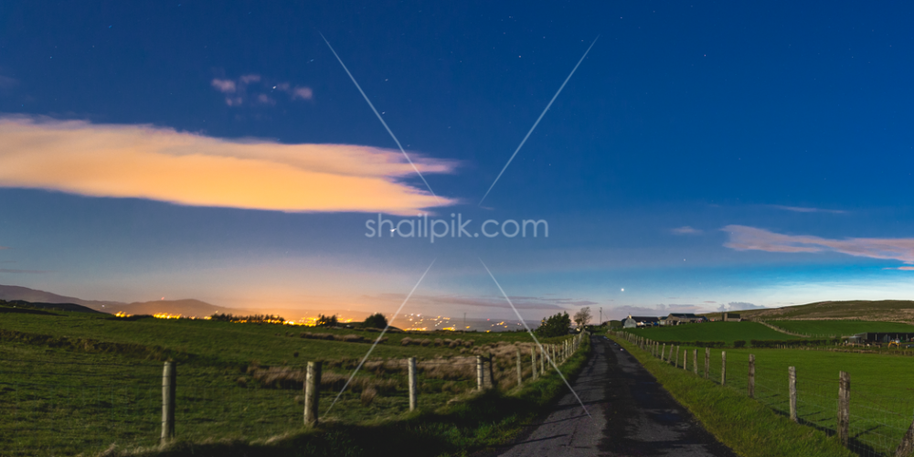 Nightscape of County Down Northern Ireland